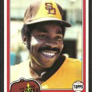 San Diego Padres Broderick Perkins 1981 Topps Baseball Card # 393 nr mt