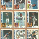 1984 Topps Cleveland Indians Team Lot Andre Thornton Rick Sutcliffe Mike Hargrove Bert Blyleven