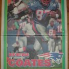 1995 New England Patriots Ben Coates newspaper Poster