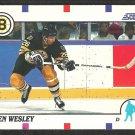 Boston Bruins Glen Wesley 1990 Score Hockey Card # 97