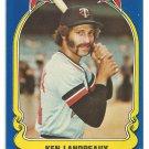 Minnesota Twins Ken Landreaux 1981 Fleer Star Sticker Baseball Card # 46