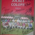 2014 Saratoga Jockey Colony Signed Poster Johnny Velazquez Javier Castellano Alex Solis Irad Ortiz