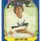 Los Angeles Dodgers Don Sutton 1981 Fleer Star Sticker Baseball Card # 59
