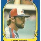 Montreal Expos Larry Parrish 1981 Fleer Star Sticker Baseball Card # 69