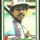 Montreal Expos Tony Bernazard 1981 Topps Baseball Card # 413  ex/nm