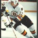 Boston Bruins Randy Burridge ca 1980s Postcard # 12