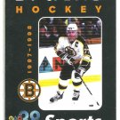 Boston Bruins 1997 Pocket Schedule Ray Bourque Bud Ice Seinfeld Frasier
