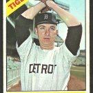 Detroit Tigers Dave Wickersham 1966 Topps Baseball Card # 58 vg/ex