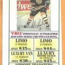 Boston Bruins Adam Oates 1990s Limo Service Advertising Coupon