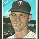 Minnesota Twins Jerry Zimmerman 1966 Topps Baseball Card # 73 vg