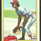 St Louis Cardinals Keith Hernandez 1981 Topps Baseball Card # 420 nr mt