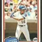 New York Mets John Stearns 1981 Topps Baseball Card # 428 nr mt