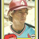 St Louis Cardinals Mike Ramsey RC Rookie Card 1981 Topps Baseball Card # 366 nr mt