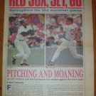 1989 Boston Red Sox Opening Day Supplement Ellis Burks Mike Greenwell Boston Phoenix