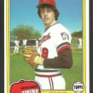 Minnesota Twins Roger Erickson 1981 Topps Baseball Card # 434 nr mt