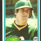 Oakland Athletics Mike Heath 1981 Topps Baseball Card # 437 nr mt