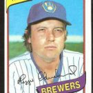 Milwaukee Brewers Reggie Cleveland 1980 Topps Baseball Card # 394 nr mt