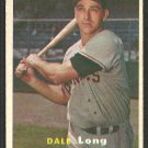 Pittsburgh Pirates Dale Long 1957 Topps Baseball Card # 3 ex/em