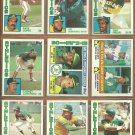 1984 Topps Oakland Athletics Team Lot Rickey Henderson Carney Lansford Dwayne Murphy Lopes