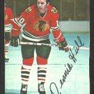 Chicago Black Hawks Dennis Hull 1976 Topps Insert Hockey Card # 16 vg