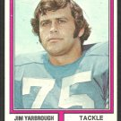 Detroit Lions Jim Yarbrough 1974 Topps Parker Brothers Variation Football Card # 24 vg