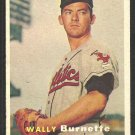 Kansas City Athletics Wally Burnette RC Rookie Card 1957 Topps Baseball Card # 13 ex/em