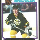 Boston Bruins Ray Bourque Record Breaker 1980 Topps Hockey Card # 2 nr mt oc Rookie Year