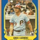 Philadelphia Phillies Greg Luzinski 1981 Fleer Star Sticker Baseball Card # 75