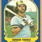 Milwaukee Brewers Gorman Thomas 1981 Fleer Star Sticker Baseball Card # 77
