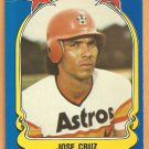 Houston Astros Jose Cruz 1981 Fleer Star Sticker Baseball Card # 78