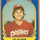 Philadelphia Phillies Tug McGraw 1981 Fleer Star Sticker Baseball Card # 83