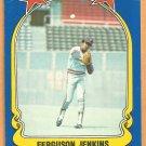 Texas Rangers Ferguson Jenkins 1981 Fleer Star Sticker Baseball Card # 84