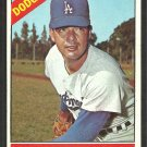 Los Angeles Dodgers Jim Brewer 1966 Topps Baseball Card # 158 vg
