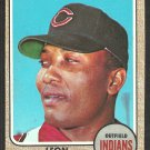 Cleveland Indians Leon Wagner 1968 Topps Baseball Card # 495 g/vg