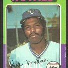 Kansas City Royals Hal McRae 1975 Topps Baseball Card # 268 vg/ex