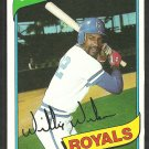 Kansas City Royals Willie Wilson 1980 Topps Baseball Card # 157 nr mt