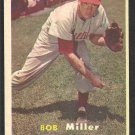 Philadelphia Phillies Bob Miller 1957 Topps Baseball Card # 46 ex mt