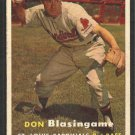 St Louis Cardinals Don Blasingame 1957 Topps Baseball Card # 47 ex/em