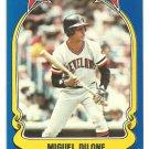 Cleveland Indians Miguel Dilone 1981 Fleer Star Sticker Baseball Card # 86