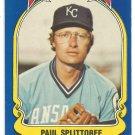 Kansas City Royals Paul Splittorff 1981 Fleer Star Sticker Baseball Card # 95