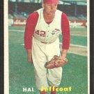 Cincinnati Reds Hal Jeffcoat 1957 Topps Baseball Card # 93 ex/nm