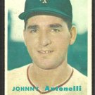 New York Giants Johnny Antonelli 1957 Topps Baseball Card # 105 ex