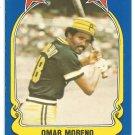 Pittsburgh Pirates Omar Moreno 1981 Fleer Star Sticker Baseball Card # 100