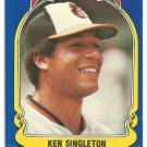 Baltimore Orioles Ken Singleton 1981 Fleer Star Sticker Baseball Card # 103