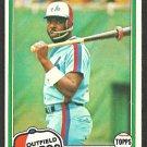 Montreal Expos Ellis Valentine 1981 Topps Baseball Card # 445 nr mt