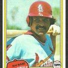 St Louis Cardinals Ken Reitz 1981 Topps Baseball Card # 441 nr mt