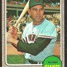 San Francisco Giants Jim Davenport 1968 Topps Baseball Card 525 ex