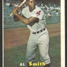 Cleveland Indians Al Smith 1957 Topps Baseball Card 145 ex