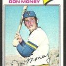 Milwaukee Brewers Don Money 1977 Topps Baseball Card 79 vg