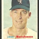 Chicago White Sox Jack Harshman 1957 Topps Baseball Card 152 ex mt